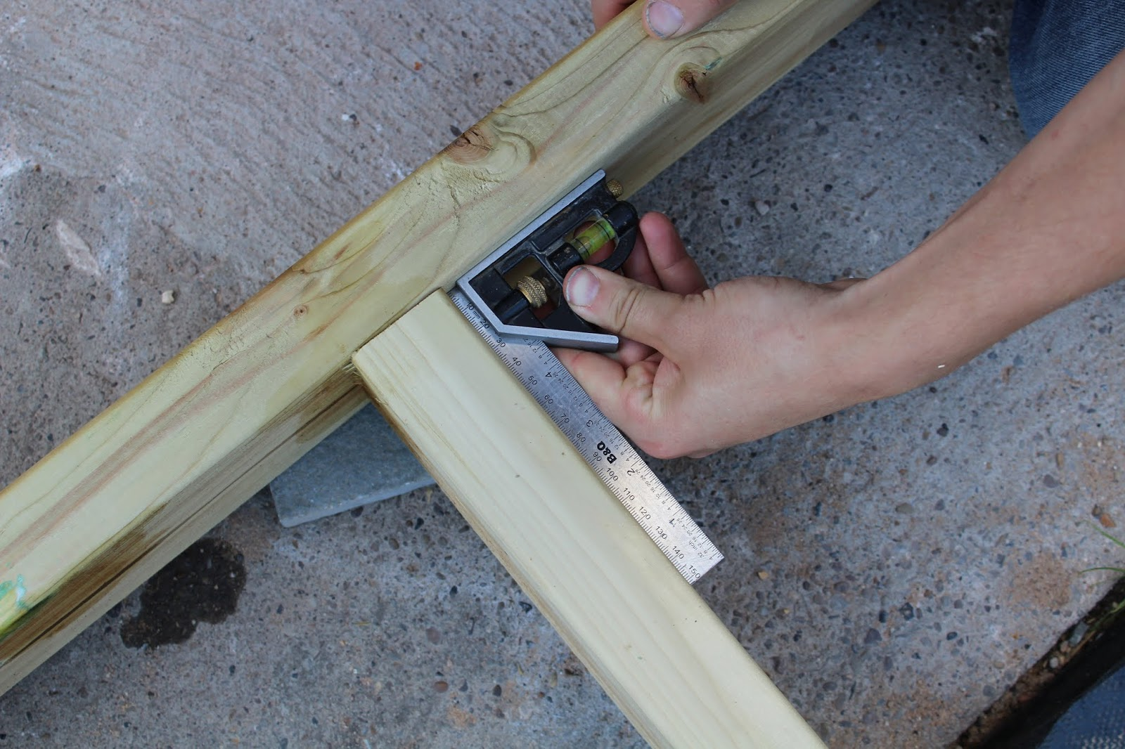 Using a Set Square with Decking