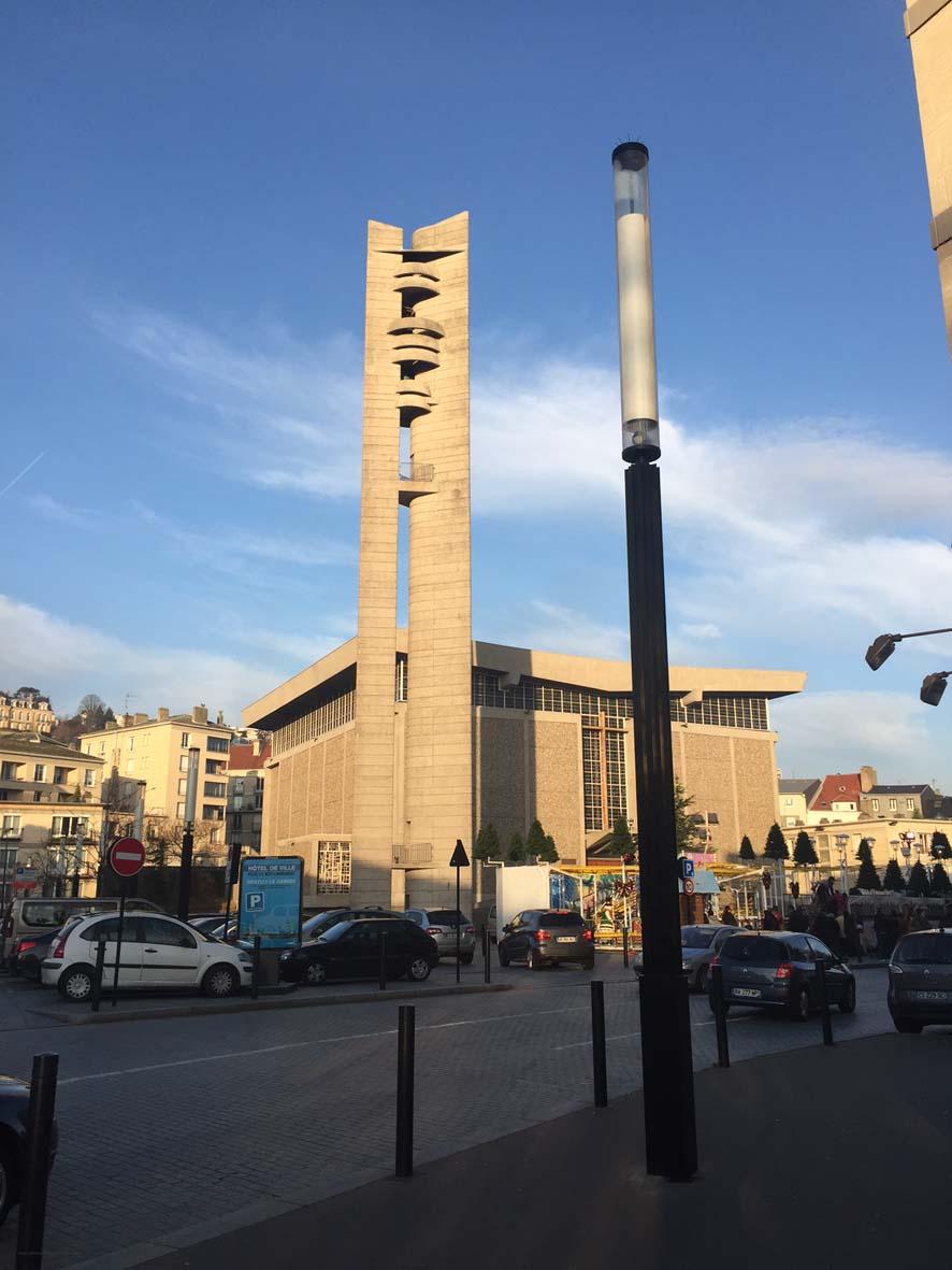 Architectures de Cartes Postales 2 Lautre belle glise du Havre