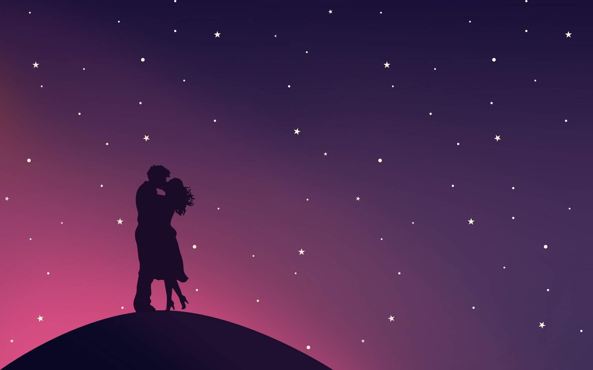 Noite Romantica Casal Apaixonado
