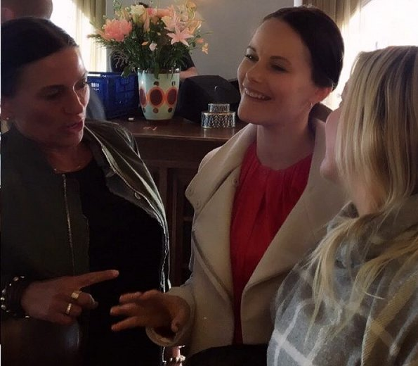 Princess Sofia of Sweden and her friends got together for a lunch at Strandvagen 1 Restaurant in Östermalm