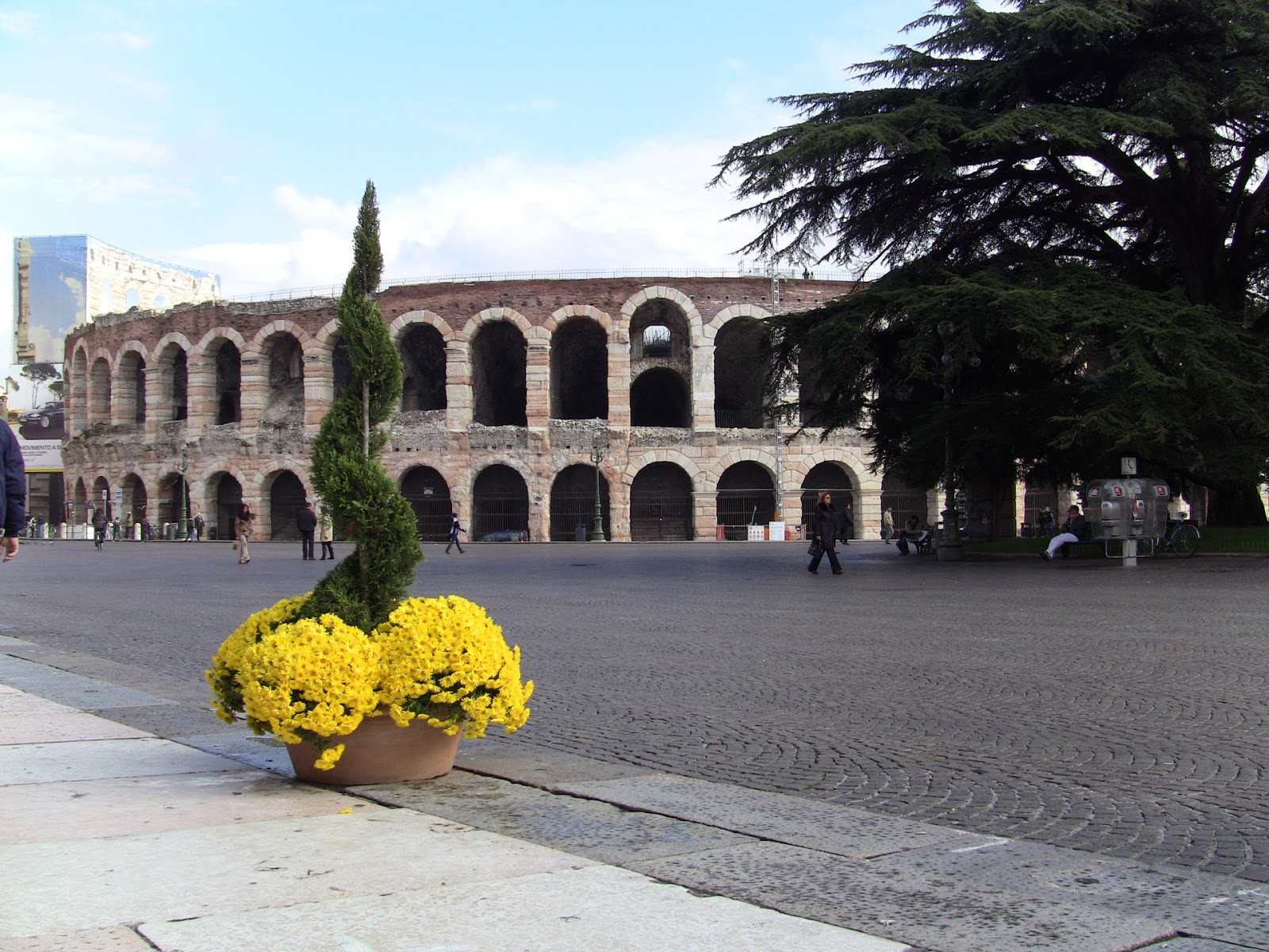The Arena and Piazza Brà in Verona, Italy. Photo: Gail Keller, WineTrekkerTV.com.
