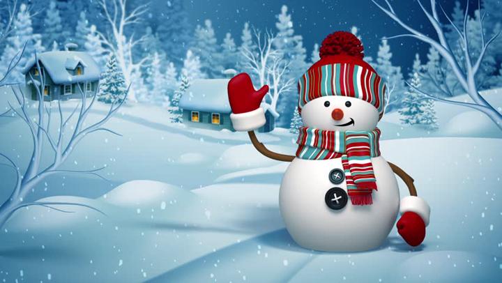 yılbaşında kardan adam resimleri