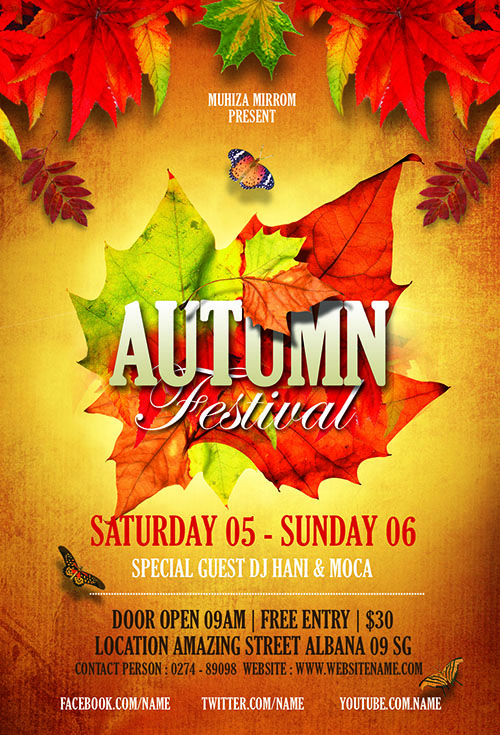 How To Create a Autumn Festival Flyer In Photoshop