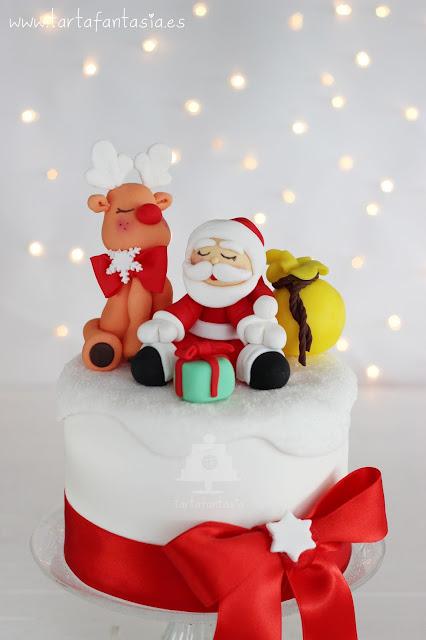 Tutorial Reno y Papá Noel de fondant