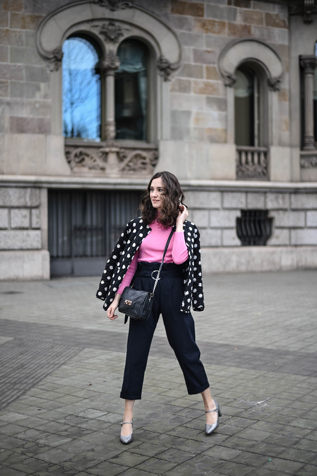 highwaisted_paper_bag_waist_pants_pink_dots
