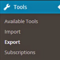 WordPress Tools Export