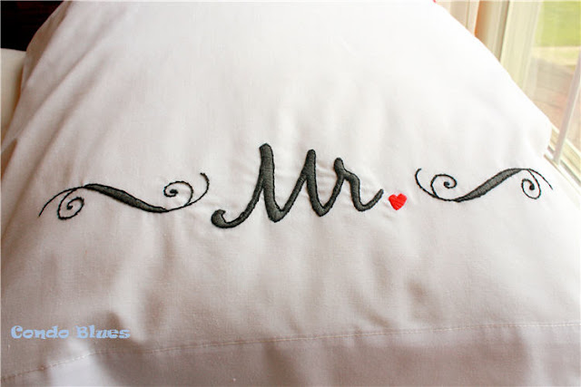 homemade wedding gift idea personalized pillowcases