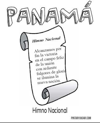 colorear de Símbolos patrios de Panamá