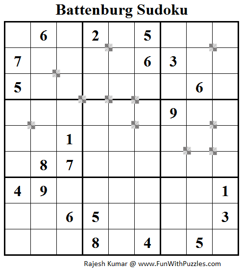 Battenburg Sudoku (Fun With Sudoku #53)