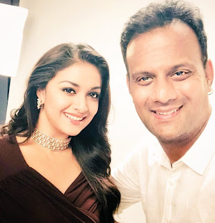 Keerthy Suresh with Photographer