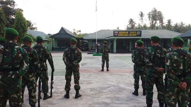 Upacara HUT TNI ke 72 Di Makodim 1415, Berlangsung Khidmat