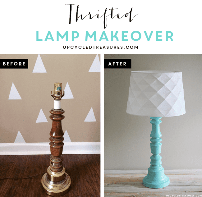 AMAZING!  No need to spend a fortune on expensive lighting!  Check out these creative thrifted lamp and light makeovers.