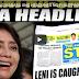 """PANOORIN! LENI ROBREDO NAGWALA NANG MABASA ANG HEADLINES NG PHILIPPINE STAR, """"IT'S FAKE...!"""""""