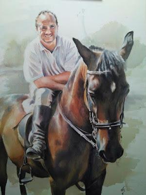 Retrato en acuarela de caballo