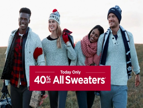 Roots 40% Off All Sweaters