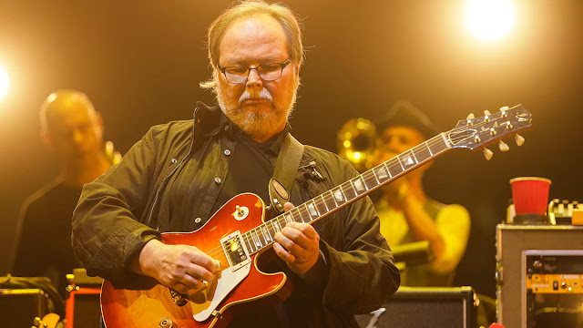 Walter Becker playing guitar