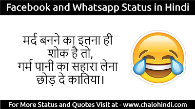 Awesome Status for Facebook in Hindi