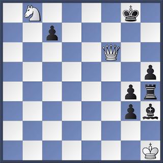 Problema de ajedrez de serie de J. Kricheli, Feenschach - 1.966, 1º  Premio, (3 + 7)