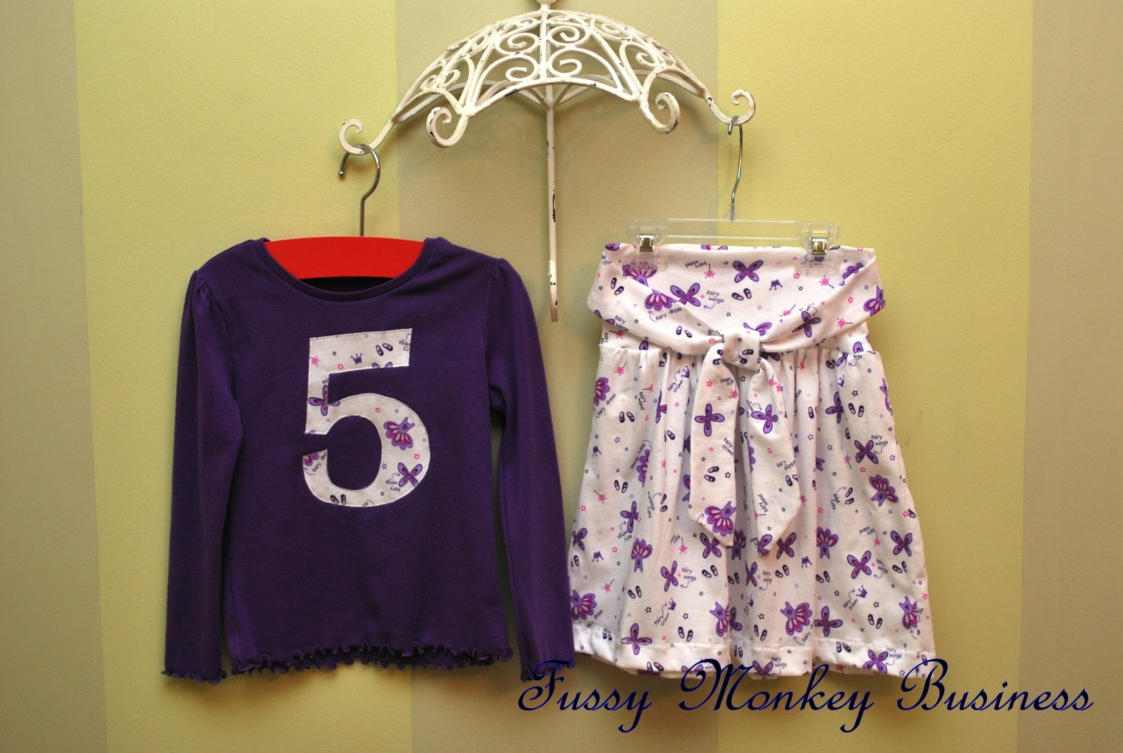 Fussy Monkey Business 5 Year Old Birthday Outfit