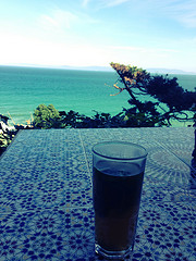 Chilling at the Hafa Cafe in Tangiers