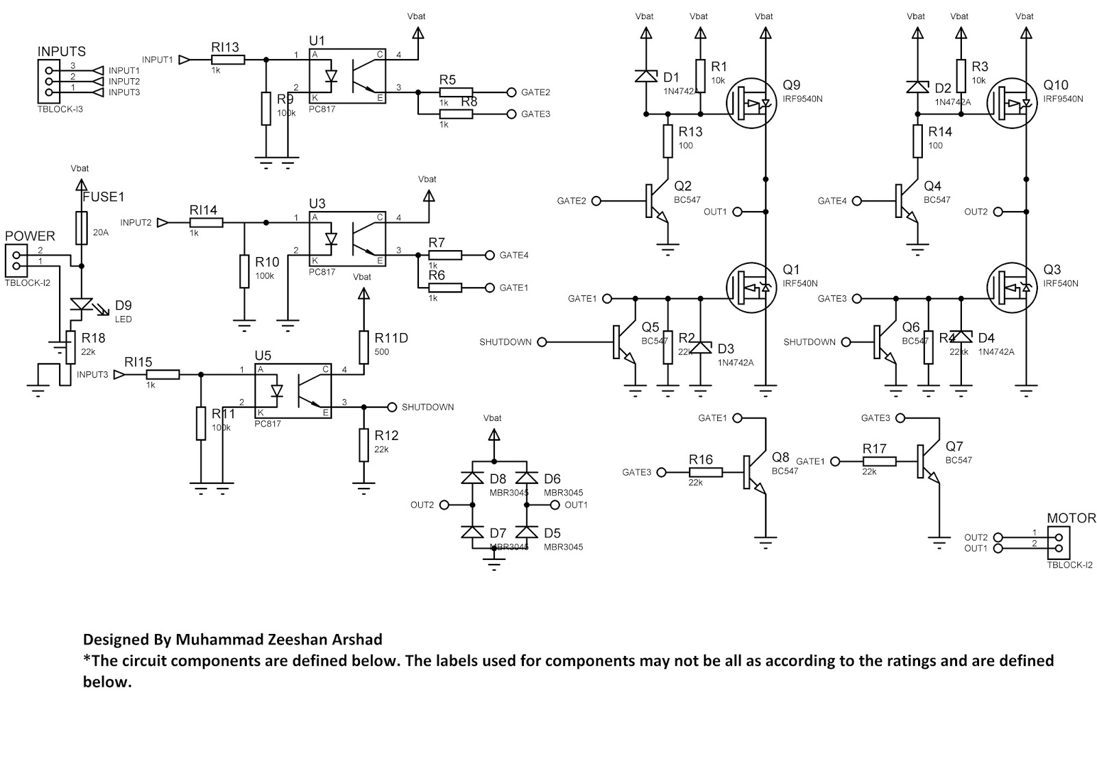 small resolution of high power hbridge circuit with mosfet design and robust performance