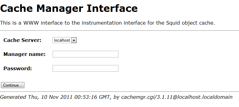 Cache Manager Interface Access Denied | 2x4x8