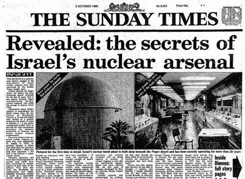 Το σιωνιστικό μυστικό - πυρηνικό βιολογικό και χημικό οπλοστάσιο στο Ισραήλ