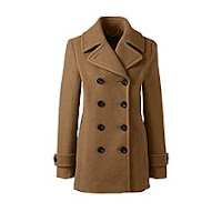 Lands End Brown Peacoat