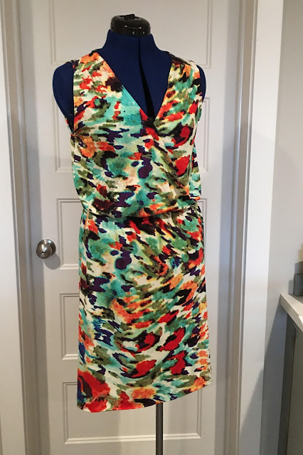 Simplicity 8178 made with a Joann fabrics' knit.