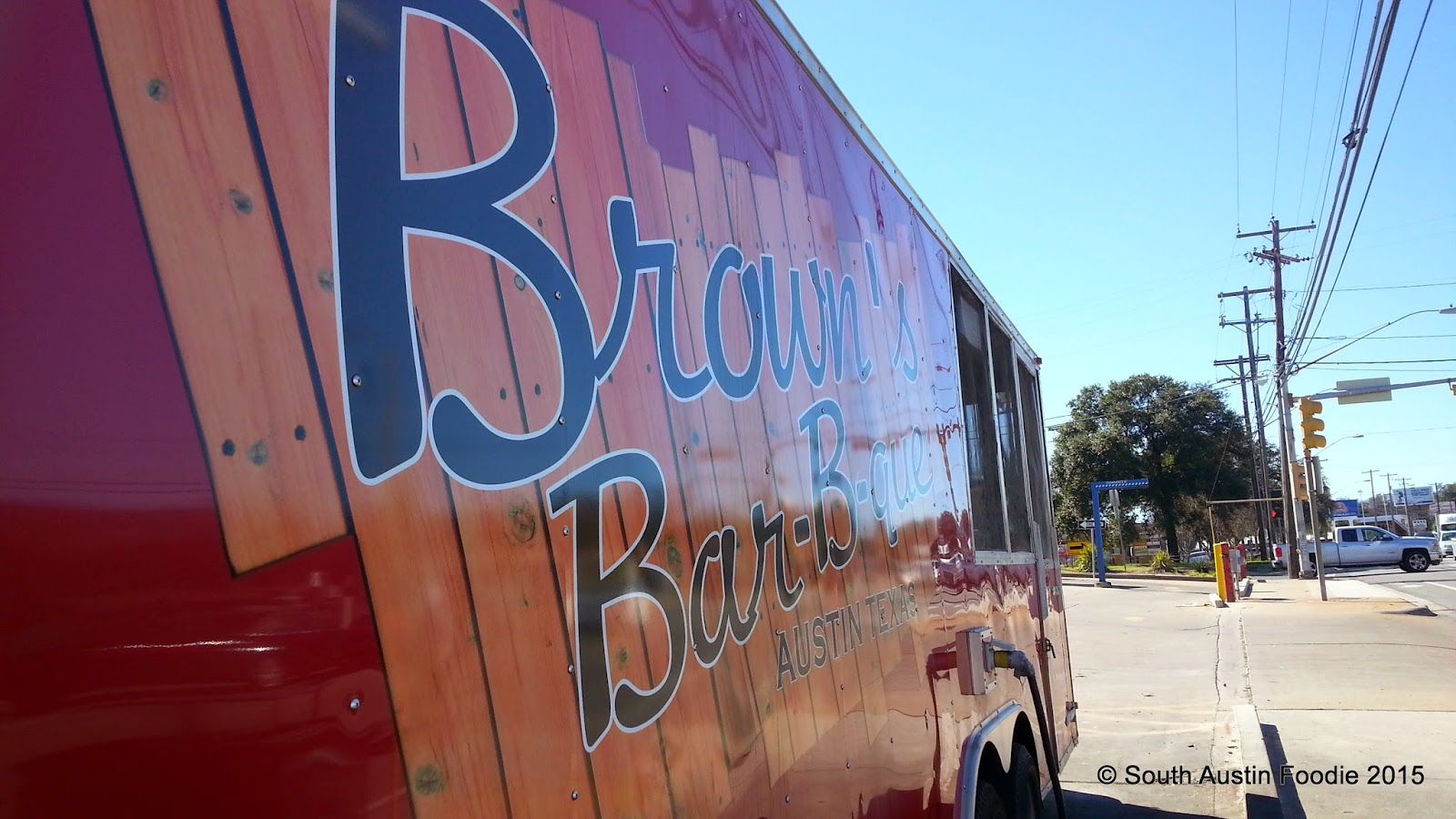 Brown's Bar-B-Que trailer