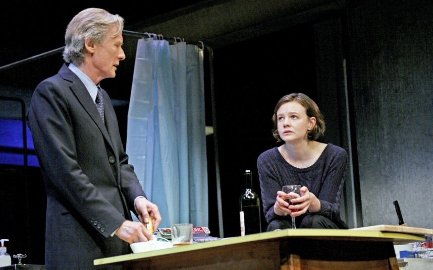 Last year Mulligan returned to the stage opposite Bill Nighy in David Hare's Skylight, which was performed both in the West End and Broadway.