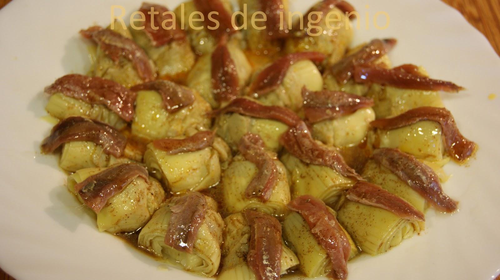 Retales de ingenio recetas y diet tica alcachofas con - Cocinar con conservas ...
