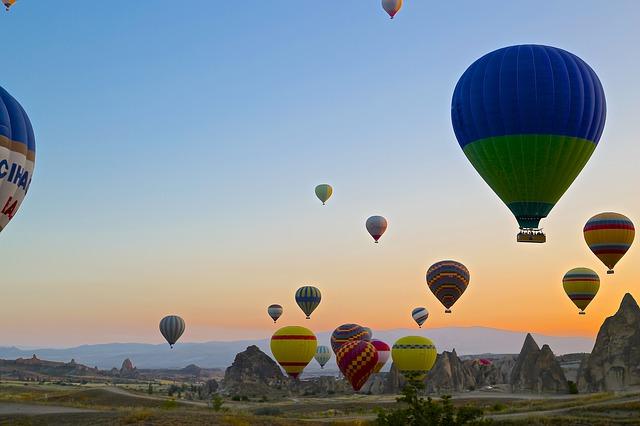 Cappadocia Turkey Balloons Landscape Travel Valley
