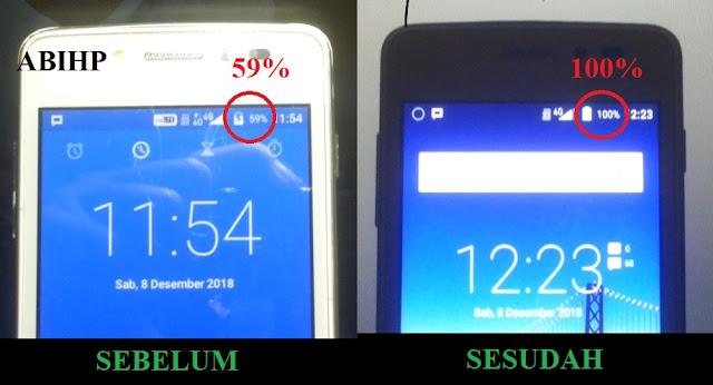 Solusi mengatasi Andromax E2 yang dicas tidak bertambah baterai.