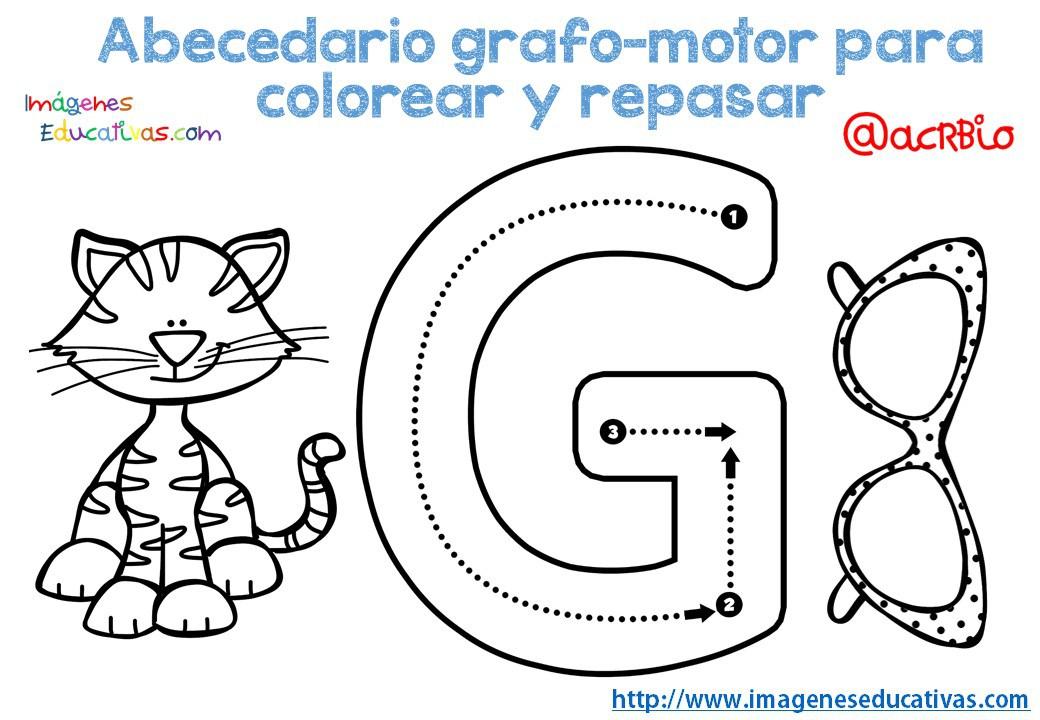 Dibujos De El Abecedario Para Colorear: SGBlogosfera. María José Argüeso: ABECEDARIO GRAFO-MOTOR