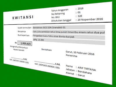 Aplikasi Kwitansi Sederhana Cetak Otomatis Untuk Laporan SPJ BOS