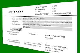 Aplikasi Cetak Kwitansi Sederhana Untuk Laporan SPJ BOS