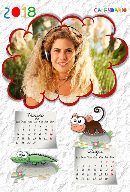 Calendario bimestrale per bambini 30x45