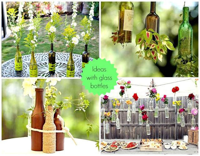 szklane butelki do kwiatów diy