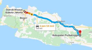 Rute Travel Purbalinggo Jakarta