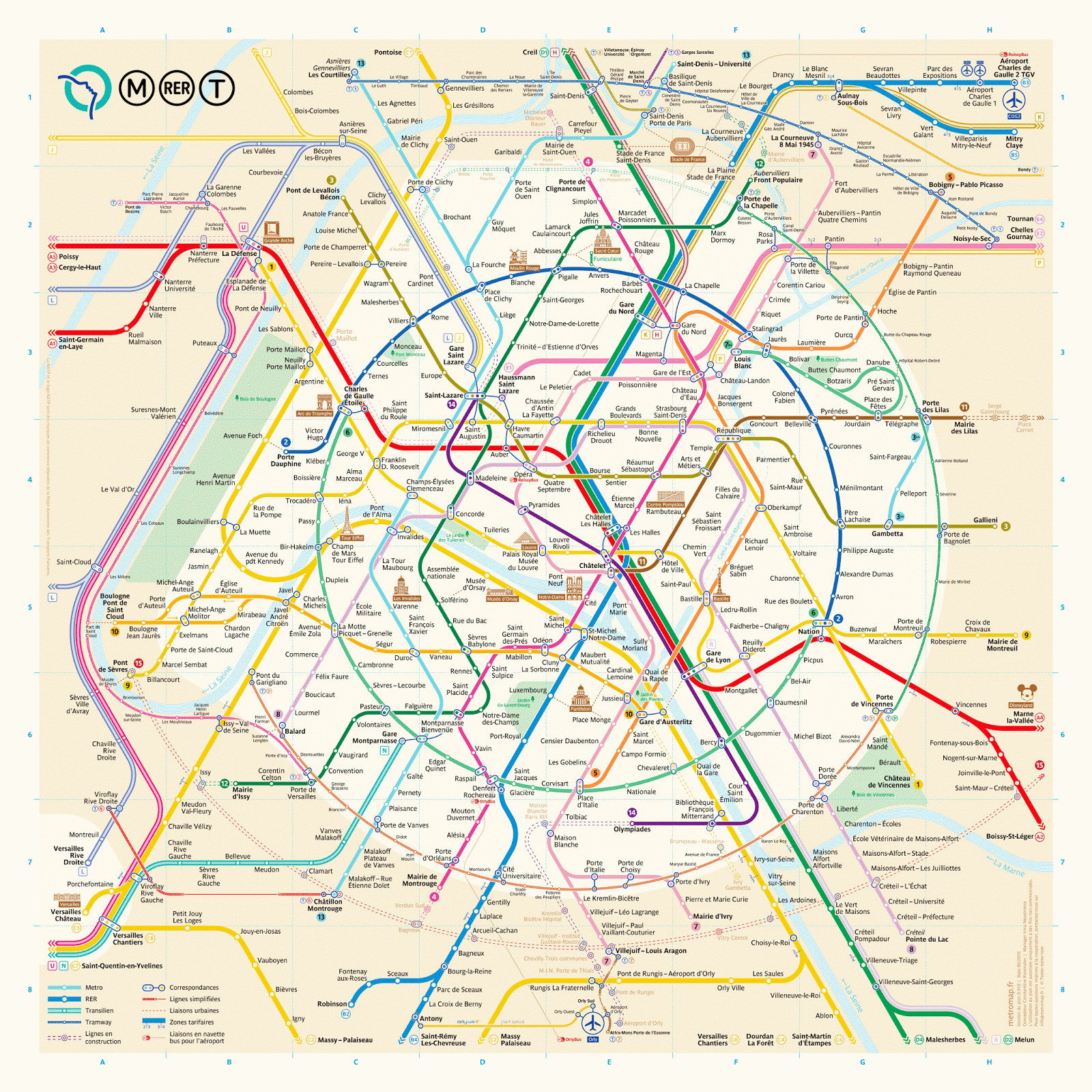 The New Paris Metro Map