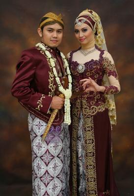 Kebaya Perkawinan Modern Simple Muslim