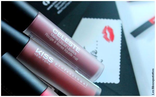 Avis blog - Rouge à lèvres liquide matte, gamme Celeste, KISS NY Pro
