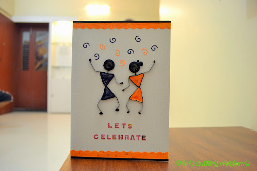 Worli quilling card