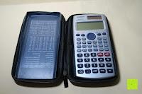 Deckel und Rechner: Taschenrechner Schutztasche für Casio FX 991 ES / DE Plus