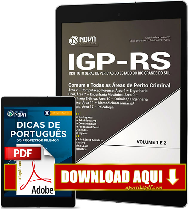 Apostila IGP RS 2017 PDF Download Perito Criminal