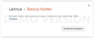 Cara Backup dan Restore Blog