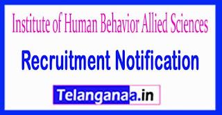 IHBAS (Institute of Human Behavior Allied Sciences) Recruitment Notification 2017