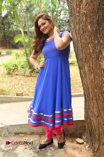 Actress Ashwini Stills in Blue Chudidar at Ameerpet Lo Release Press Meet  0216.JPG