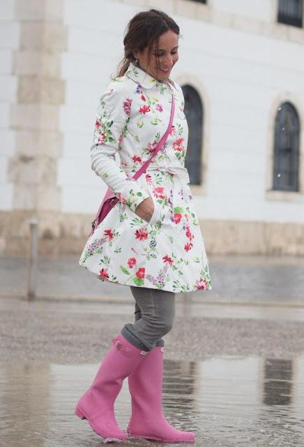 botas de lluvia de otoño